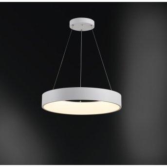 WOFI CAMERON Pendelleuchte LED Weiß, 1-flammig, Fernbedienung