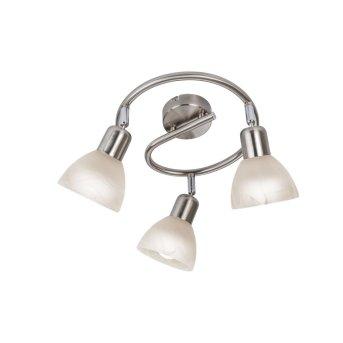Nino Leuchten DAYTONA Deckenleuchte LED Nickel-Matt, 3-flammig