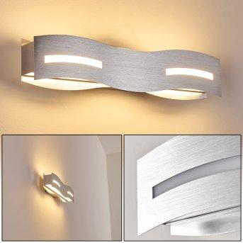 Nagold Wandleuchte LED Nickel-Matt, Chrom, 1-flammig