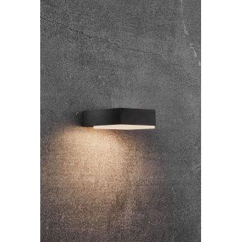 Nordlux PIANA Außenwandleuchte LED Schwarz, 1-flammig
