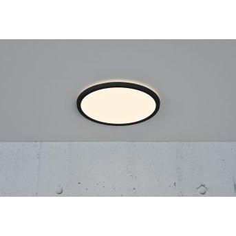 Nordlux OJA Deckenleuchte LED Schwarz, 1-flammig