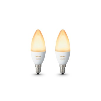 Philips Hue LED 2er Set Ambiance White E14 6 Watt 6500 Kelvin 470 Lumen