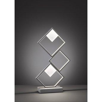 Wofi Jade Tischleuchte LED Grau, 1-flammig