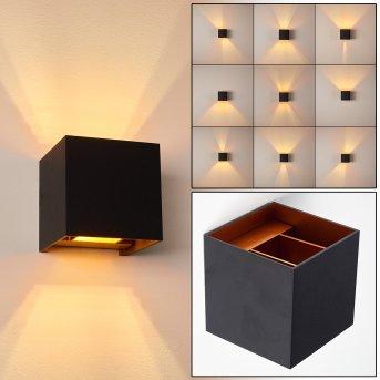 Badajoz Wandleuchte LED Schwarz, Kupferfarben, 1-flammig