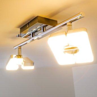 Turin Deckenspot LED Chrom, 2-flammig