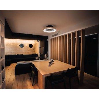 Mantra TIBET Deckenventilator LED Schwarz, Gold, 1-flammig, Fernbedienung