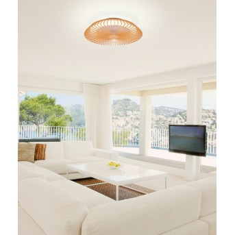 Mantra HIMALAYA Deckenventilator LED Holz dunkel, 1-flammig, Fernbedienung