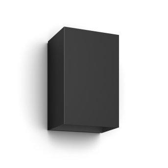 Philips Hue White & Color Ambiance Resonate Wandleuchte schwarz LED Schwarz, 2-flammig