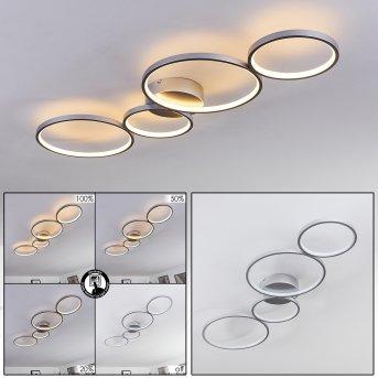 Rodekro Deckenleuchte LED Nickel-Matt, 4-flammig