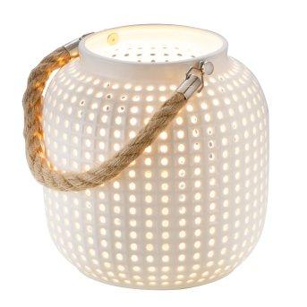 Nino Leuchten BOLA Tischleuchte Braun, Weiß, 1-flammig
