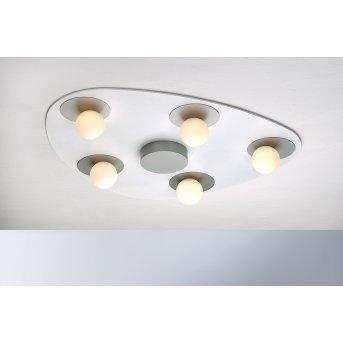 Bopp Leuchten PLANETS Deckenleuchte LED Silber, Weiß, 5-flammig