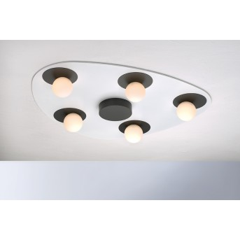 Bopp Leuchten PLANETS Deckenleuchte LED Anthrazit, Weiß, 5-flammig