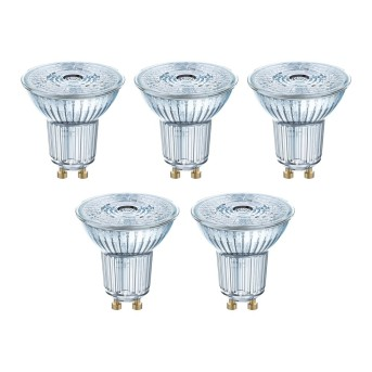 Osram 5er Set LED GU10 4,3 Watt 2700 Kelvin 350 Lumen