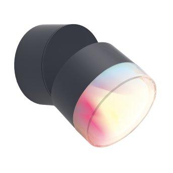 Lutec DROPSI Außenwandleuchte LED Anthrazit, 1-flammig, Farbwechsler