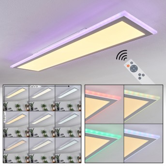 Mota LED Panel Weiß, 1-flammig, Fernbedienung, Farbwechsler