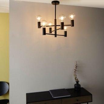 Brilliant Leuchten Orazio Kronleuchter Schwarz, 6-flammig