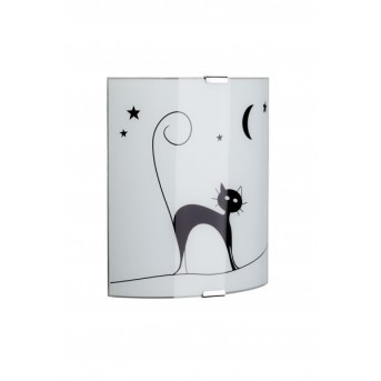 Brilliant Cat Wandleuchte Weiß, 1-flammig