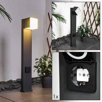 Swanek Wegeleuchte LED Schwarz, 1-flammig