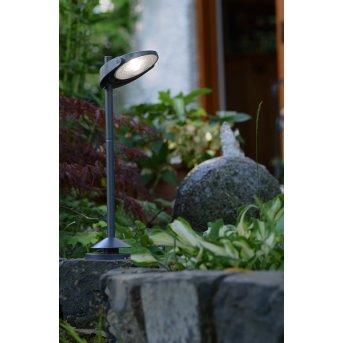 Lutec SUN CONNEC STACK Außenwegeleuchte LED Grau, 3-flammig