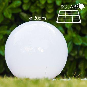 Kugelleuchte Solar LED Edelstahl, 2-flammig
