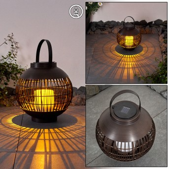 Aosta Solarleuchte LED Braun, 1-flammig