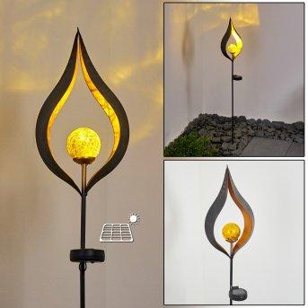 Rovinj Solarleuchte LED Schwarz, Kupfer, 1-flammig