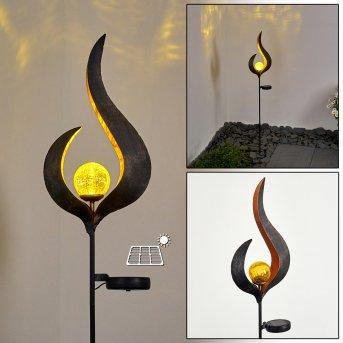 Rovinj Solarleuchte LED Anthrazit, Kupfer, 1-flammig