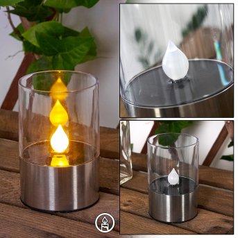Wroclaw Solarleuchte LED Silber, 1-flammig