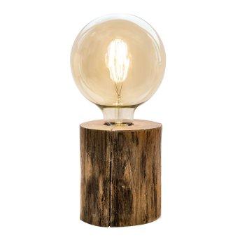 Nino Leuchten TRONCO Tischleuchte Holz dunkel, 1-flammig