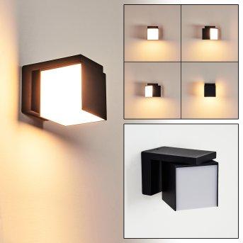 Swanek Außenwandleuchte LED Schwarz, 1-flammig