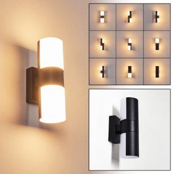 Baulund Außenwandleuchte LED Schwarz, 1-flammig