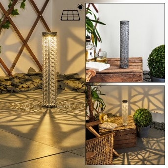 Hankinson Solarleuchte LED Schwarz, Grau, Silber, 1-flammig