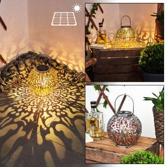 Moreland Solarleuchte LED Schwarz, Silber, Kupfer, 1-flammig