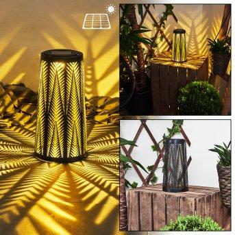 Météo Solarleuchte LED Schwarz, Gold, 1-flammig