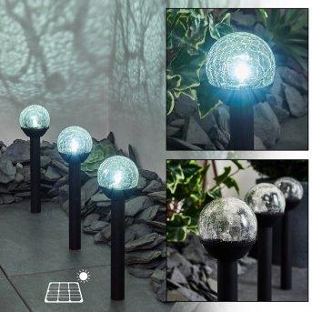 Colognole 3er Set Solar-Wegeleuchte LED Schwarz, 1-flammig