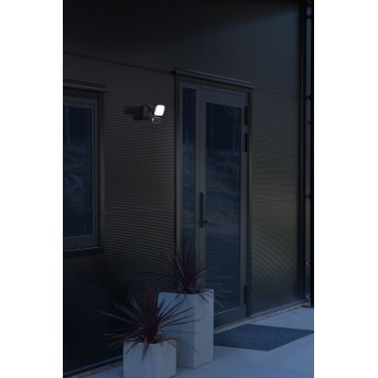Konstsmide Camera-Smart-Light Außenwandleuchte LED Schwarz, 1-flammig, Bewegungsmelder