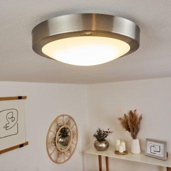 Alleen Außendeckenleuchte LED Nickel-Matt, 3-flammig