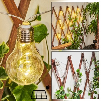 Markhus Solar-Lichterkette LED Transparent, Klar, 10-flammig