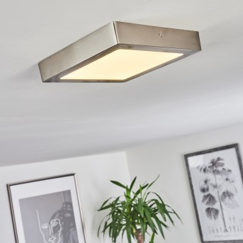Finsrud Deckenleuchte LED Nickel-Matt, 1-flammig