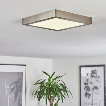 Fnsrud Deckenleuchte LED Nickel-Matt, 1-flammig