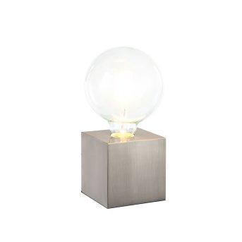 Nino Leuchten LEONIE Tischleuchte Nickel-Matt, 1-flammig