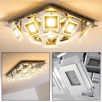 Cerreto Deckenleuchte LED Chrom, 9-flammig