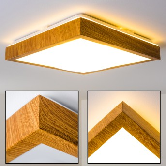 Sora Wood Deckenlampe LED Holz hell, 1-flammig