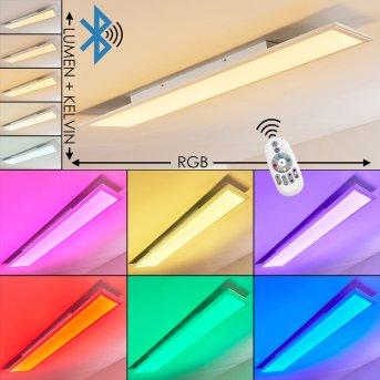 Voisines Deckenpanel LED Weiß, 1-flammig, Fernbedienung, Farbwechsler