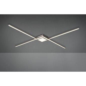 Trio Leuchten Oxford Deckenleuchte LED Nickel-Matt, 1-flammig