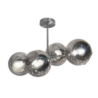 Nino Leuchten PILAR Deckenleuchte Nickel-Matt, 4-flammig