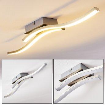 Letala Deckenleuchte LED Nickel-Matt, Chrom, 2-flammig