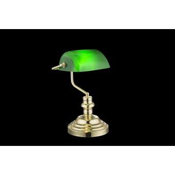 Globo ANTIQUE Tischleuchte Grün, 1-flammig