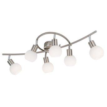Nino Leuchten LOXY Deckenleuchte LED Nickel-Matt, 6-flammig
