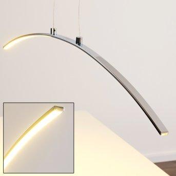 Leuchten Direkt Pendelleuchte LED Chrom, 1-flammig
